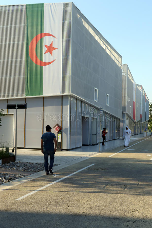 Pabellón expo 2015 de Milán, Milano de Argelia fotografía de archivo
