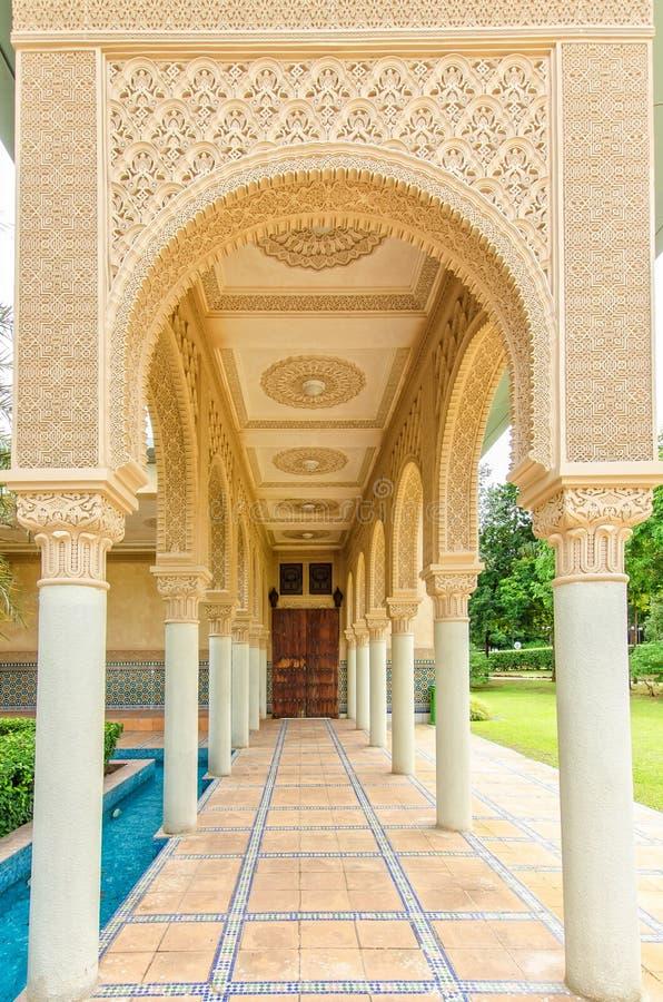 Pabellón marroquí en Putrajaya Malasia imagen de archivo libre de regalías