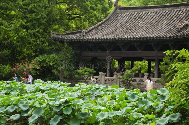 Pabellón Shaoxing China del jardín del ` s de Shen fotografía de archivo