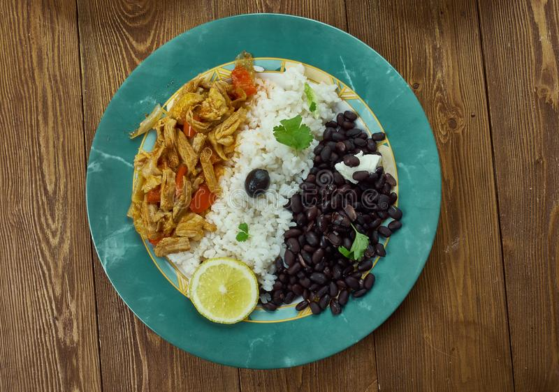 Pabellon criollo. Traditional Venezuelan dish royalty free stock photography