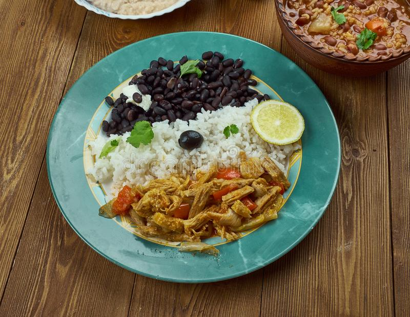 Pabellon criollo. Traditional Venezuelan dish royalty free stock photos