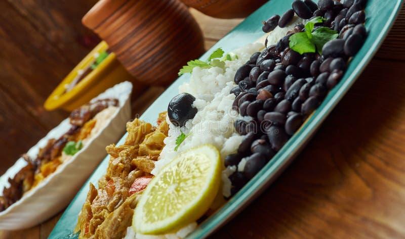 Pabellon criollo. Traditional Venezuelan dish stock photo