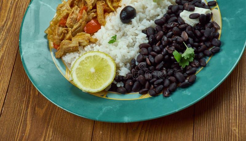 Pabellon criollo. Traditional Venezuelan dish royalty free stock image