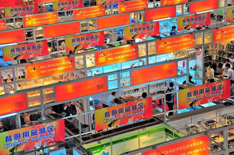 Pabellones comerciales en el cantón 2012 justo foto de archivo