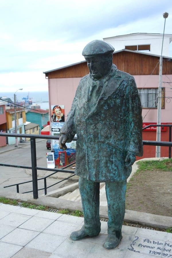 Pablo Neruda Statue foto de stock royalty free