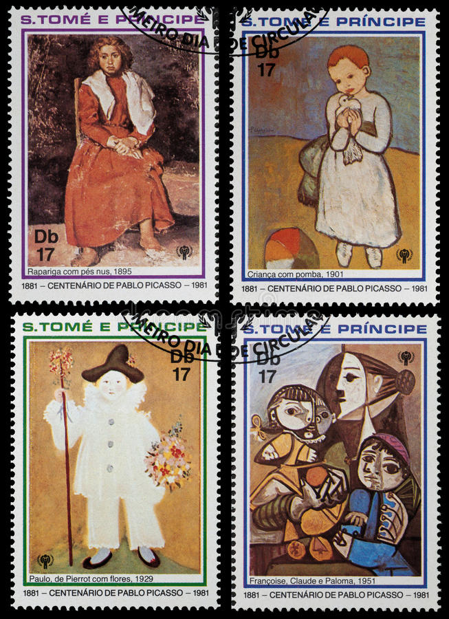 Pablo Picasso arkivfoton