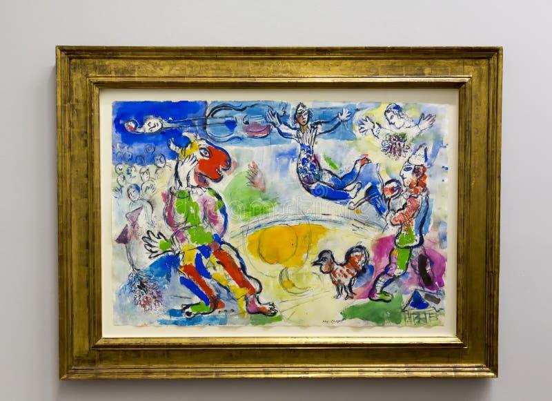 Pablo Picasso - al museo di Albertina a Vienna fotografia stock libera da diritti