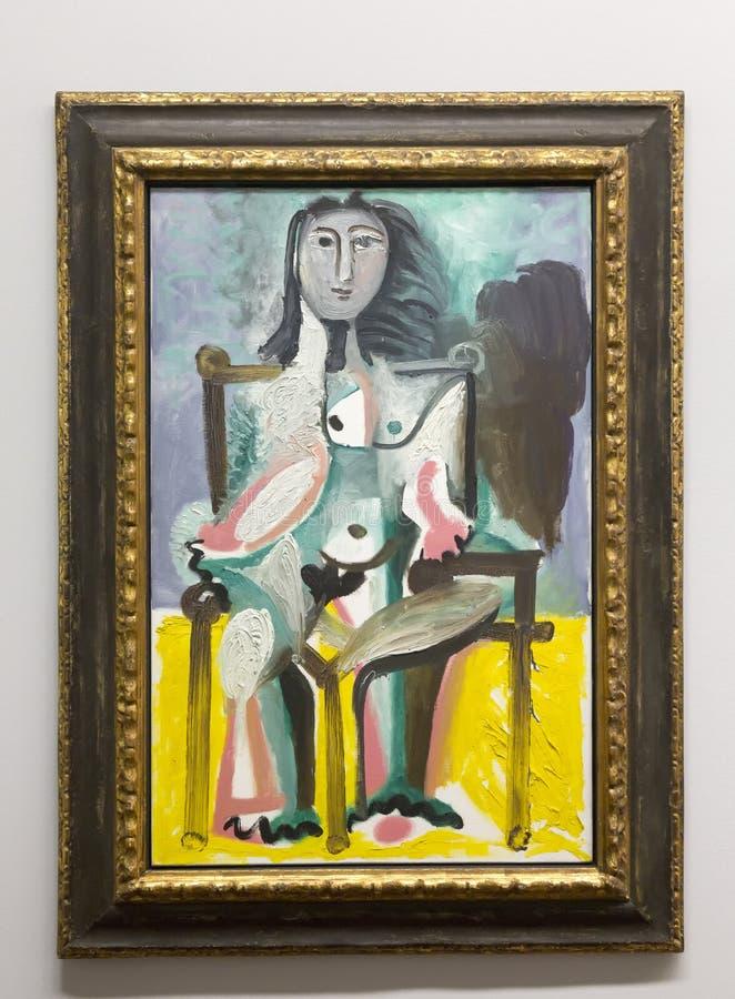 Pablo Picasso - en el museo de Albertina en Viena foto de archivo