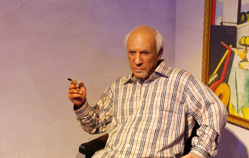 Pablo Picasso, estatua de la cera, figura de cera, figura de cera imagenes de archivo