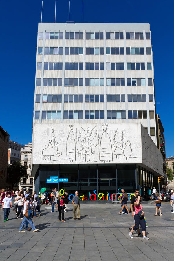 Pablo Picasso frize à Barcelone Espagne photographie stock libre de droits