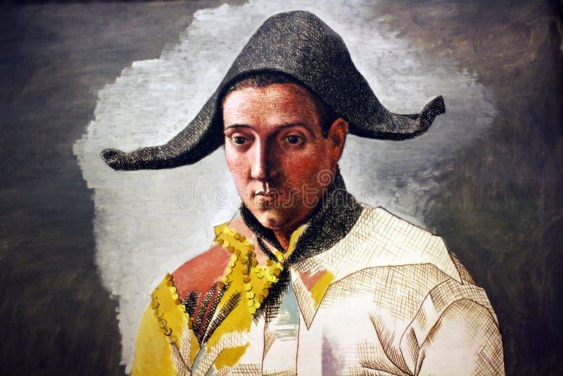 Pablo Picasso L'arlequin Assis - dettaglio fotografia stock libera da diritti