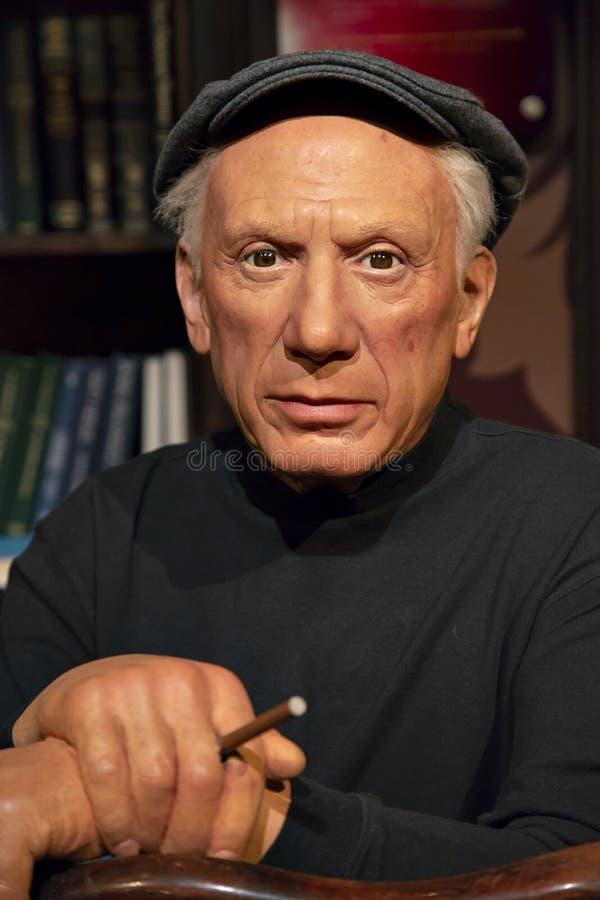 Pablo Picasso in Mevrouw Tussauds van New York royalty-vrije stock afbeelding