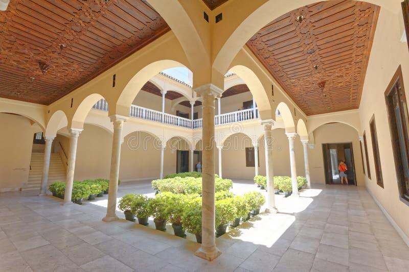 Pablo Picasso Museum, Malaga, spagna interesse architecural fotografia stock libera da diritti