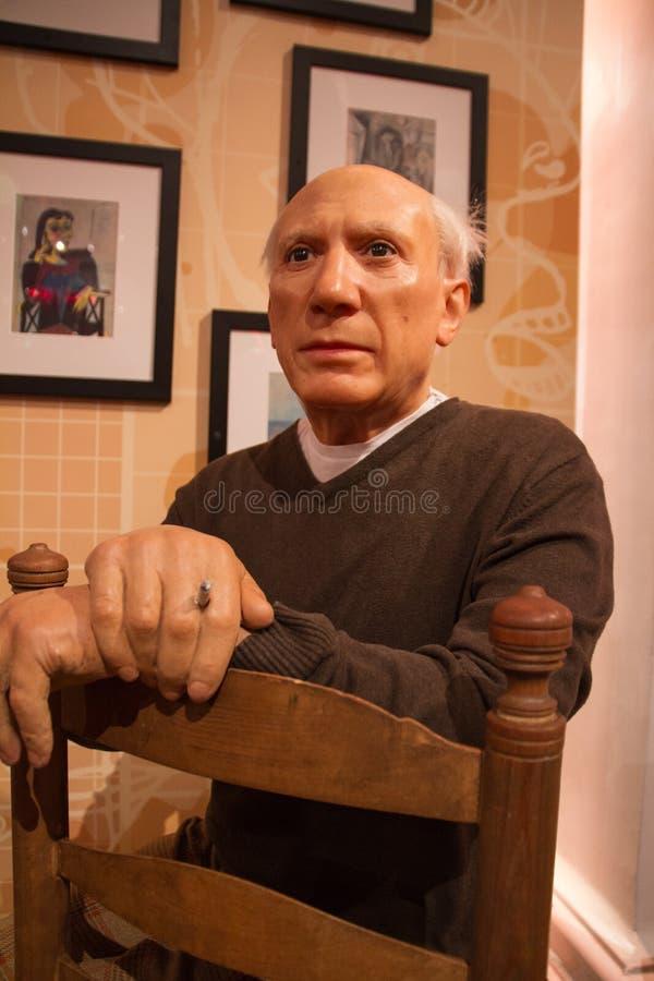 Pablo Picasso na senhora Tussaud s fotografia de stock