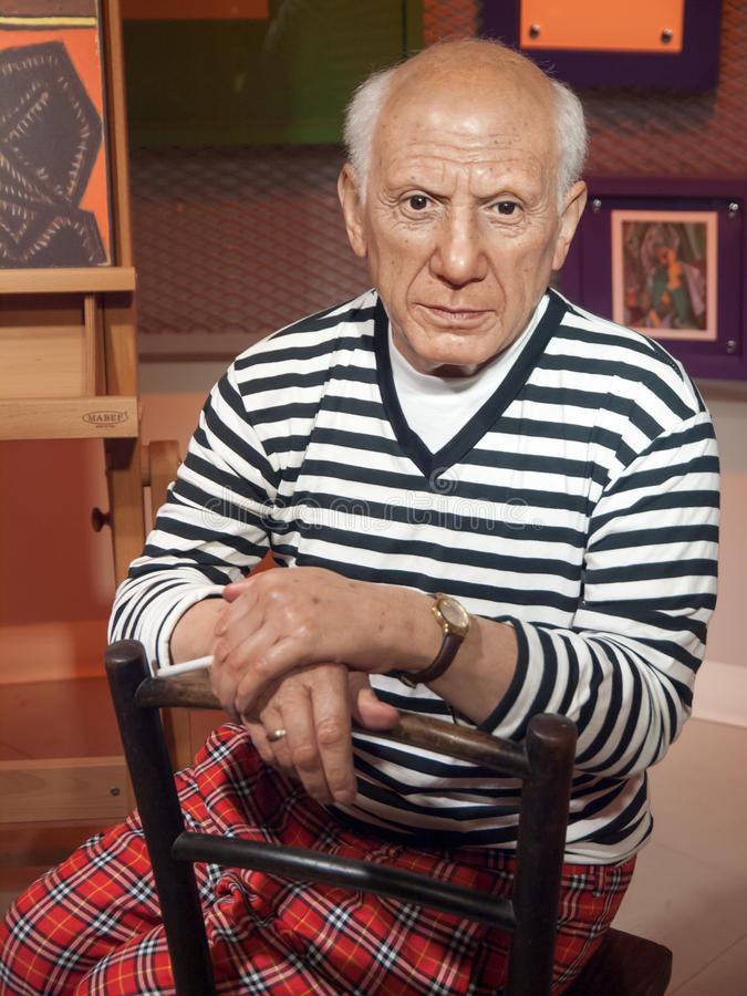 Pablo Picasso wax statue stock photography