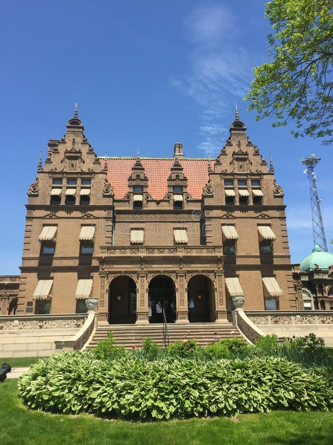 Pabst Mansion. This replicated the Pabst Brewering owner in Milwaukee stock photos
