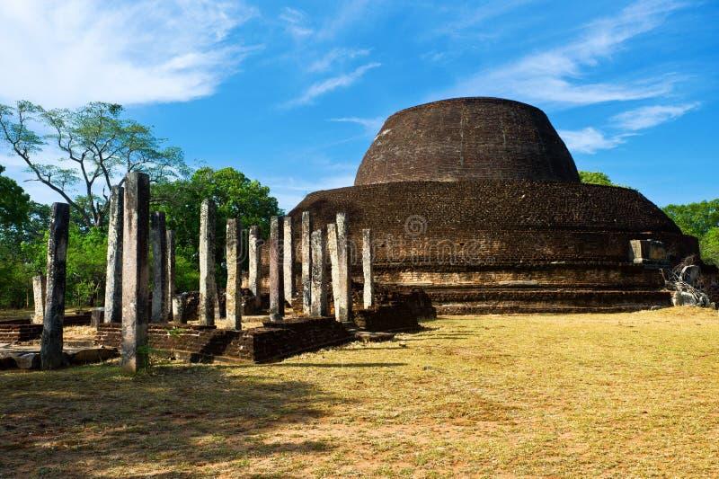 Pabulu Vihara stupa 免版税图库摄影