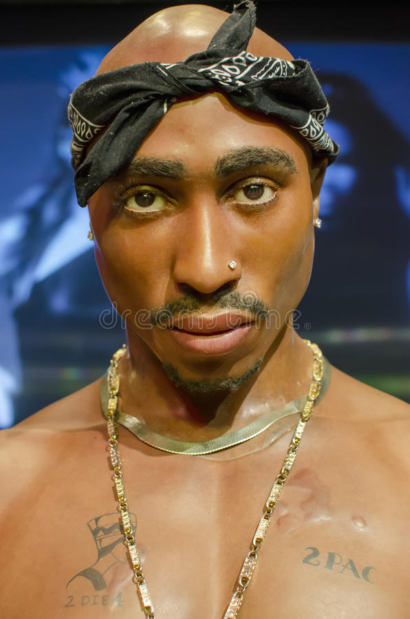 2pac photo stock