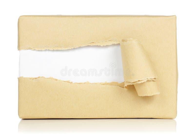 Pacchetti del Brown fotografia stock