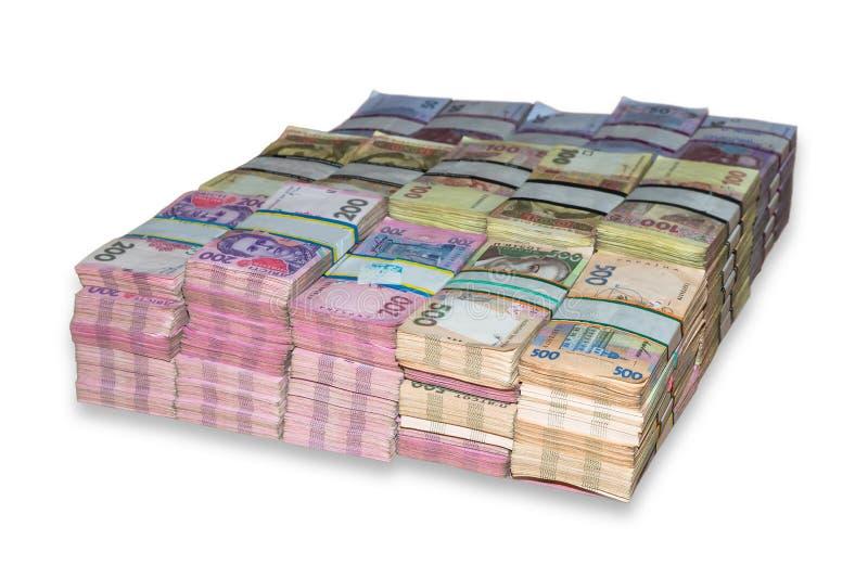 Pacchetti ucraini del dei soldi impilati fotografia stock