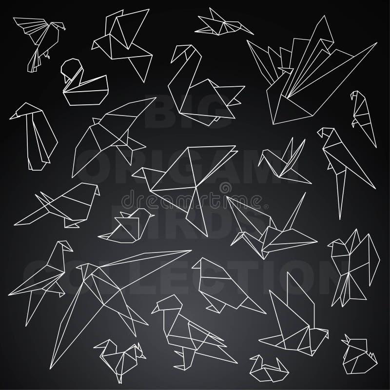 Pacchetto animale di grandi origami royalty illustrazione gratis