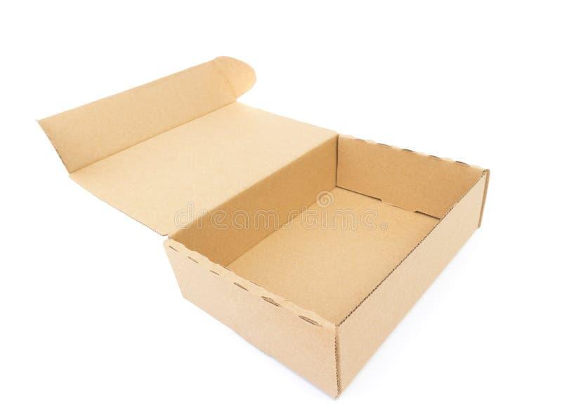 Pacchetto aperto della scatola di carta fotografia stock