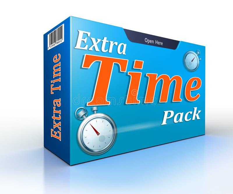 Pacchetto concettuale di offerta del pacchetto di tempi supplementari illustrazione vettoriale