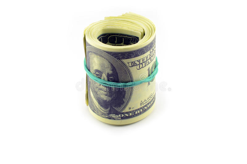 Pacchetto dei dollari immagine stock