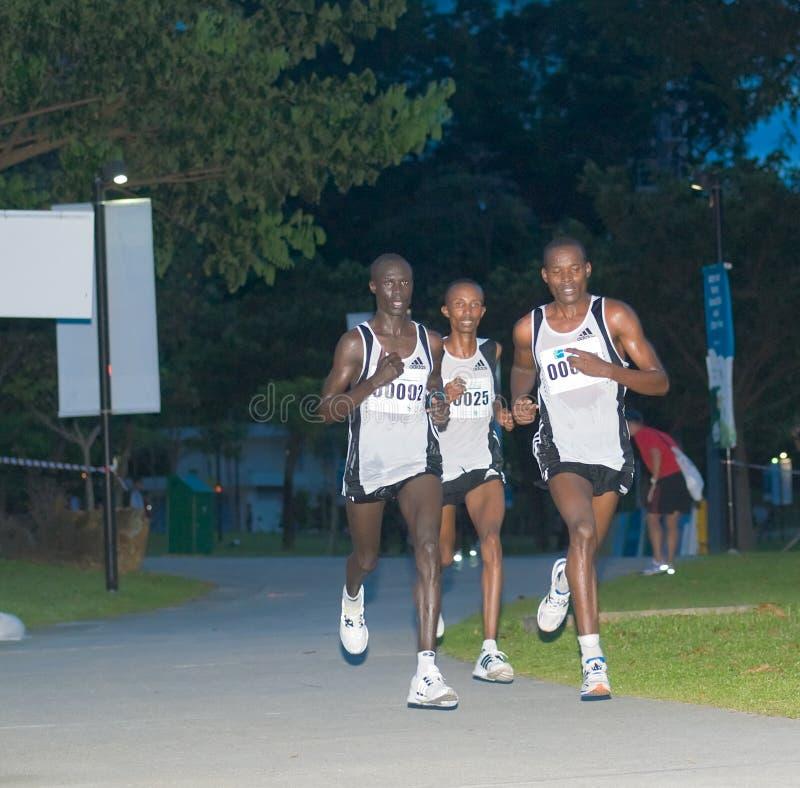 Pacchetto del cavo alla maratona 2008 di Singapore fotografia stock libera da diritti