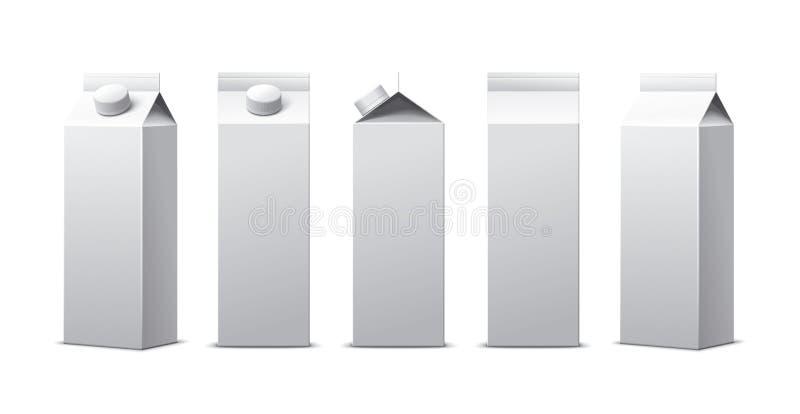 Pacchetto del foglio di cartone illustrazione vettoriale