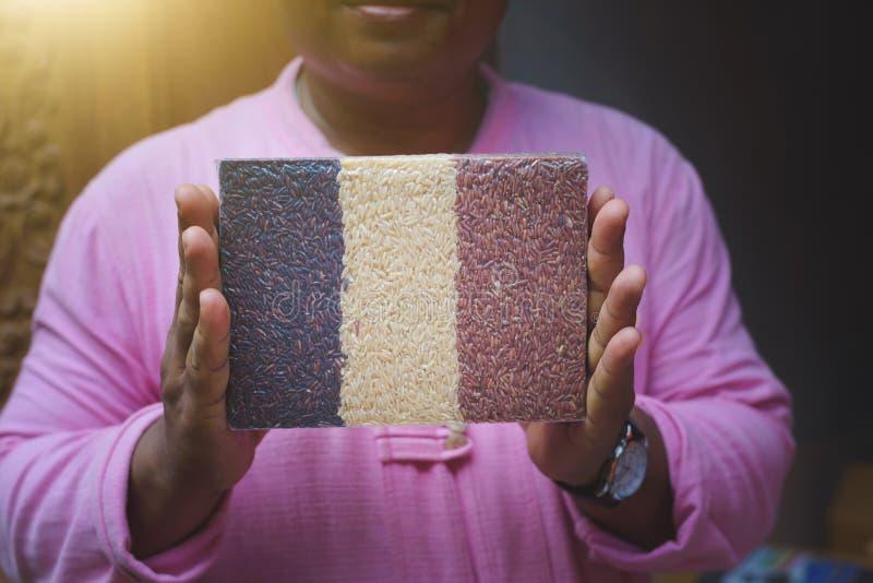 Pacchetto del riso immagini stock