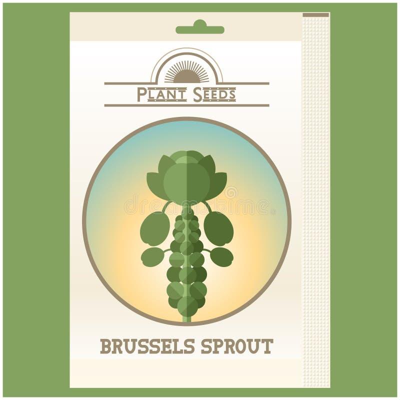 Pacchetto del seme dei cavolini di Bruxelles illustrazione vettoriale