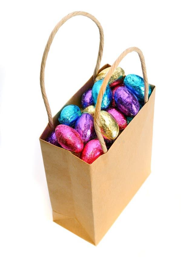 Pacchetto dell'uovo di Pasqua fotografie stock libere da diritti