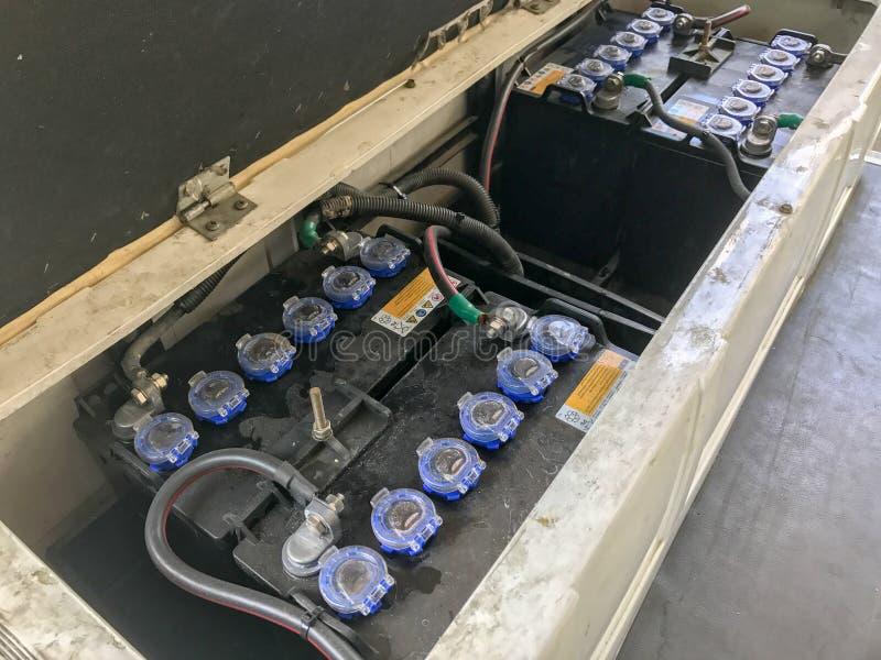 Pacchetto della batteria in automobile elettronica fotografia stock libera da diritti