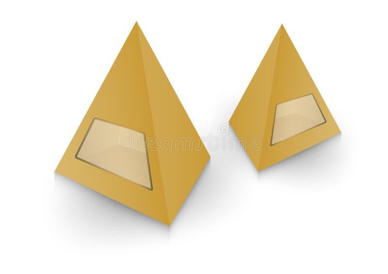 pacchetto della piramide 3d, scatola, progettazione, illustrazione di vettore royalty illustrazione gratis