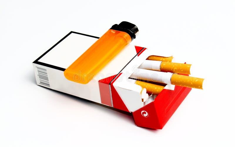 Pacchetto della sigaretta fotografia stock libera da diritti