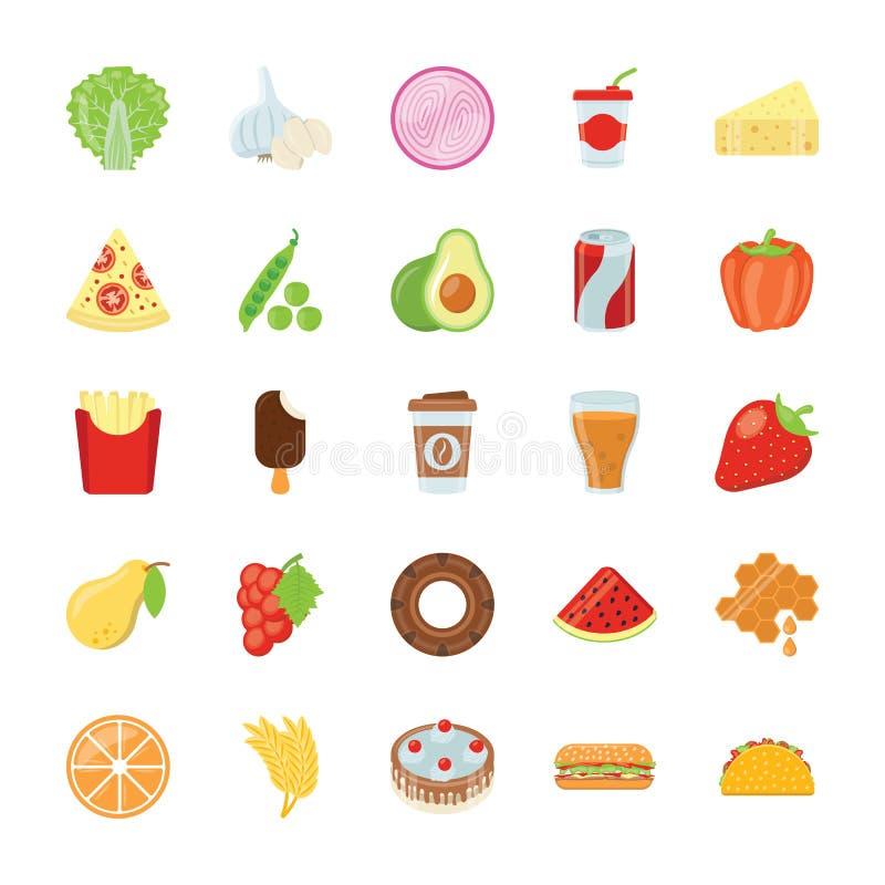 Pacchetto delle icone degli ingredienti illustrazione vettoriale