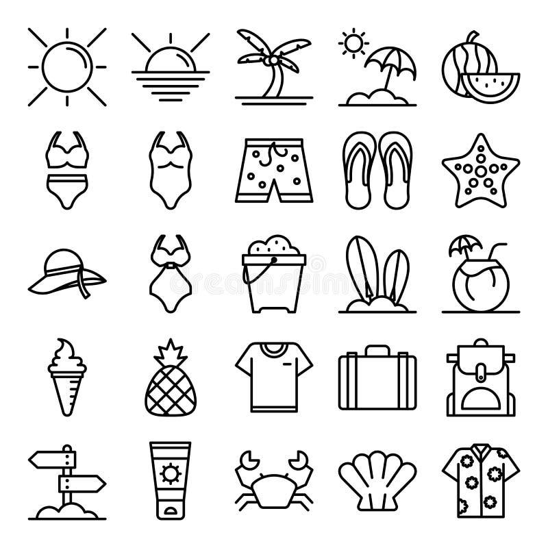 Pacchetto delle icone di estate fotografia stock libera da diritti