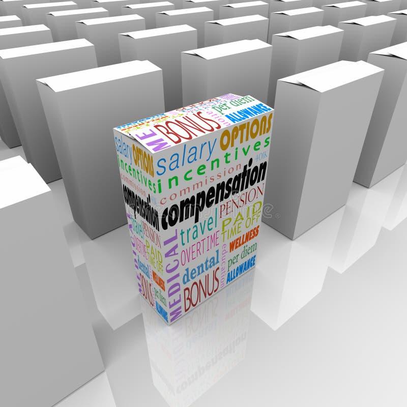 Pacchetto di beneficio della compensazione la maggior parte dei datori di lavoro generosi della concorrenza illustrazione di stock