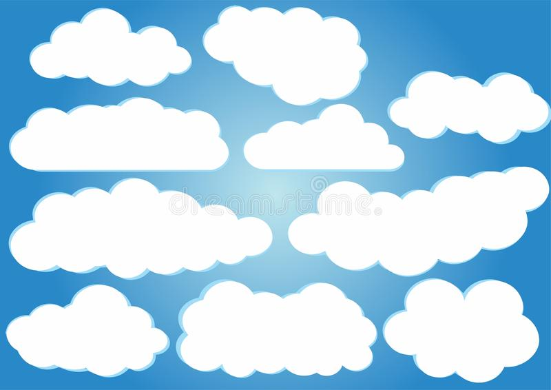 Pacchetto di vettore delle nuvole illustrazione vettoriale