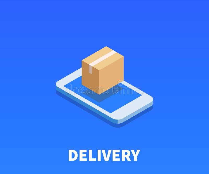 Pacchetto di web, icona di consegna, simbolo di vettore illustrazione di stock