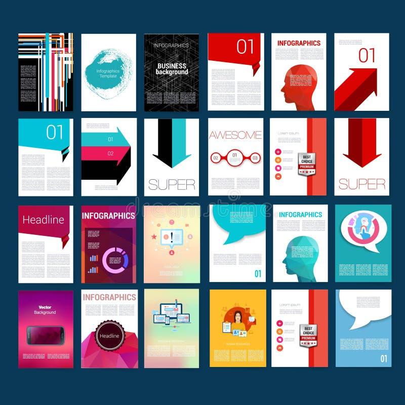 Pacchetto mega del modello di Infographic Insieme di progettazione del web illustrazione vettoriale
