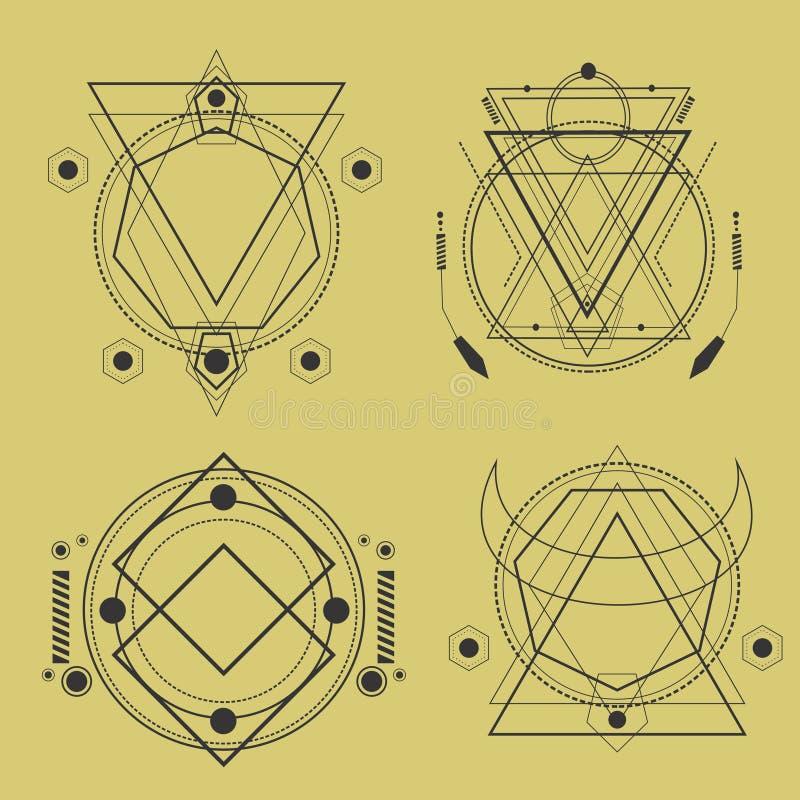pacchetto sacro della geometria royalty illustrazione gratis