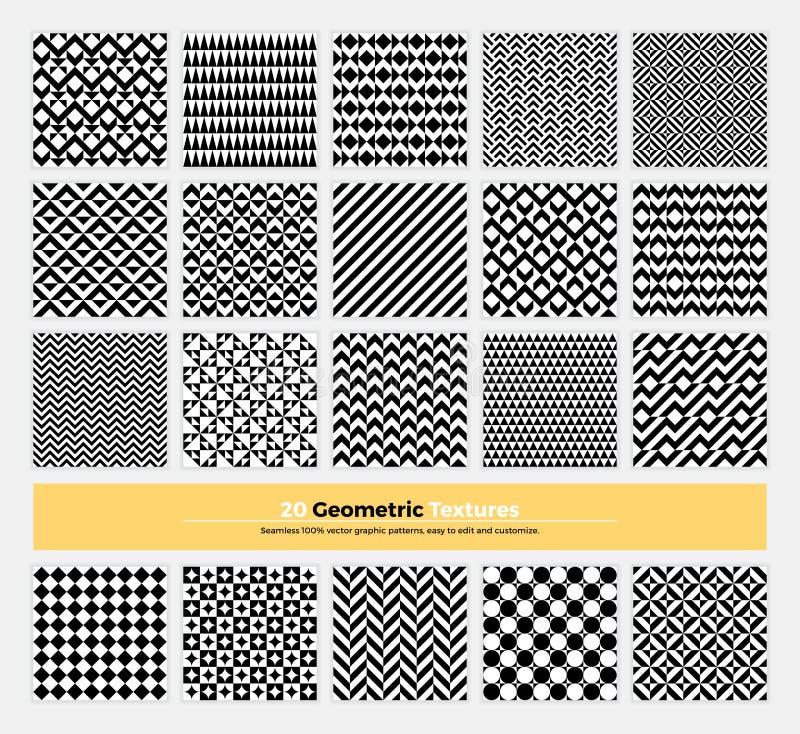 Pacchetto senza cuciture geometrico 002 del modello royalty illustrazione gratis