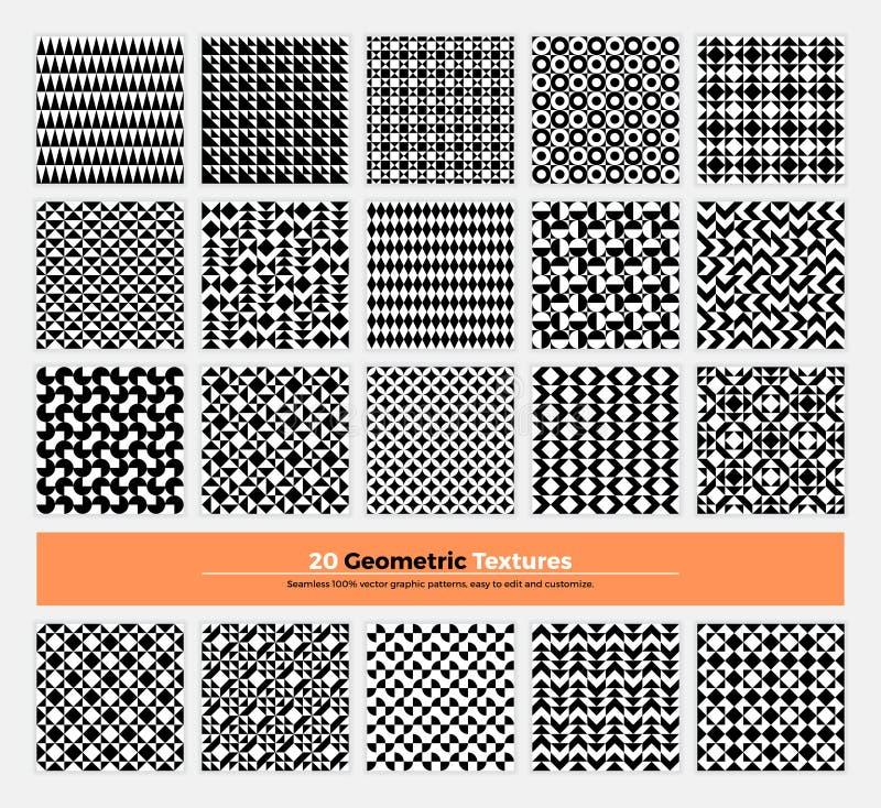 Pacchetto senza cuciture geometrico 004 del modello illustrazione di stock