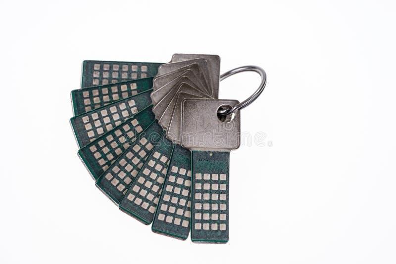 Pacco con le chiavi di sicurezza immagine stock libera da diritti