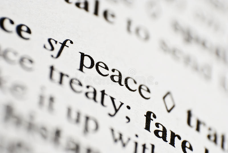 Pace fotografia stock libera da diritti