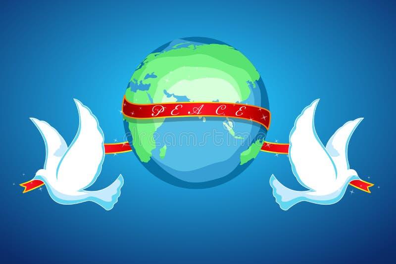 Pace del mondo illustrazione vettoriale