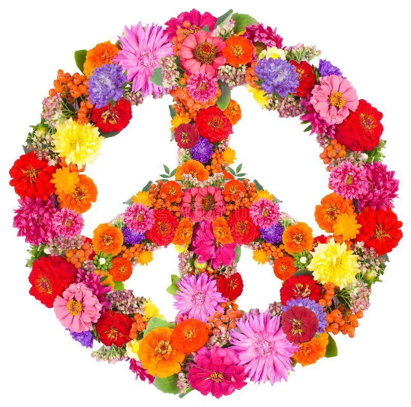 Pace del segno dai fiori fotografie stock