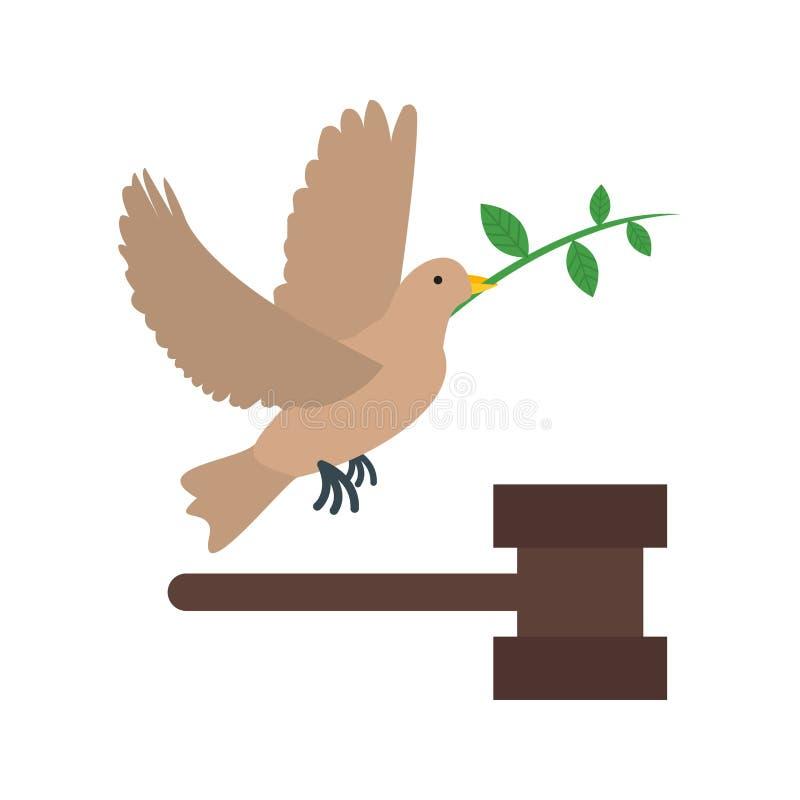 Pace e giustizia illustrazione vettoriale
